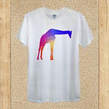 Geometric giraffe T-shirt hipster hippie swag africa animal men women fitted