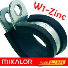 EPDM Rubber Lined P Clips |  Mikalor  | ZINC PLATED MILD STEEL W1 | P-Clip Clamp