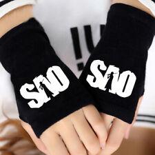 Sword Art Online SAO Half Finger Glove Cotton Knitting Fingerless Mitten Gifts