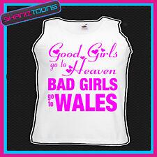 Chicas malas ir a Gales Gallina Fiesta Vacaciones Chaleco Top