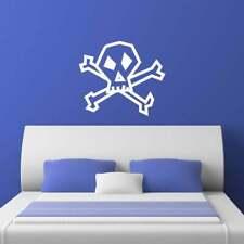 Skull And Crossbones Pirate Wall Sticker Decal Transfer Kids Goth Matt Vinyl UK