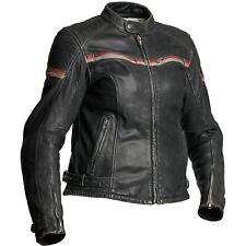 Halvarssons AQUILA DONNA donna elastico pelle nera giacca da moto