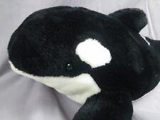 BIG SEAWORLD VACATION BLACK WHITE KILLER WHALE ORKA SPLASH SHOW ADVENTURE PLUSH
