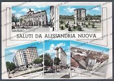 ALESSANDRIA CITTÀ 110 ALESSANDRIA NUOVA - SALUTI da... VEDUTINE Cartolina viagg.