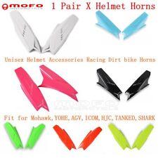Motorcycle Plastic Unisex Helmet Racing Dirt Bike Horns For Mohawk Yohe AGV Icom