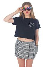 pop punk & Pizza Top Corto Camisa Verano Moderno Grunge BANDAS Y Fan