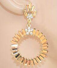 ORECCHINI ORO CRISTALLI cerchi donna eleganti dorati cerimonia boucles 115X