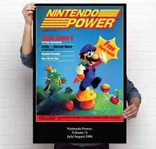 Nintendo Power Issue Volume 1 1980s Super Mario Bros 2 Retro 11x17 24x36 Poster