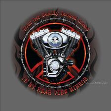 *4027 bl T-Shirt Biker v twin vintage american Harley-Motor-Motiv Bike