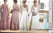 UNCUT Vintage Butterick Sewing Pattern Tea Evening Dress Wedding Gown 4772 OOP