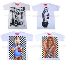 Herren Retro Punk Rock Pop Sexy Blonde Vintage Finger Lustig Cool T-Shirt NEU