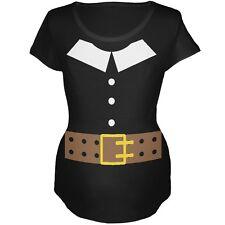 Pilgrim Costume Black Maternity Soft T-Shirt