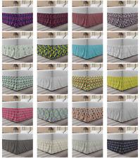 Ambesonne Retro Scene Bedskirt Elastic Wrap Around Skirt Gathered Design