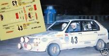 DECAL CALCA 1/43 CITROEN VISA GTi J.M. BARDOLET RALLY COSTA BRAVA 1986