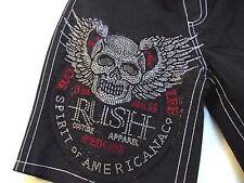 Rush Couture mens Platinum Skull  Boardshorts  swim MMA Ufc boxing Affliction
