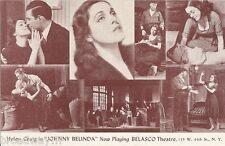 "Helen Craig ""JOHNNY BELINDA"" Bertha Belmore / Beau Tilden 1941 Broadway Postcard"