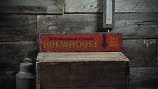 Brewhouse, Custom Bar Name, Distressed - Rustic Distressed Wood Sign ENS1001261