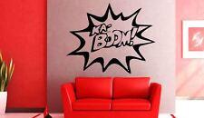 Ka-Boom! estilo 2 Comic Book Estilo Palabra Vinilo Arte de Pared Calcomanía Adhesivo