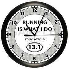 HALF MARATHON WALL CLOCK PERSONALIZED CUSTOM 13.1 MILES RUNNER RUNNING GIFT