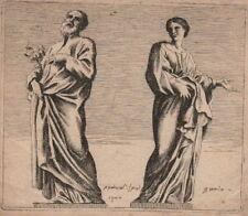 ARTE_PARROCEL_BERNINI_NAPOLI_ROMA_RARA ANTICA INCISIONE_'700_DA COLLEZIONE