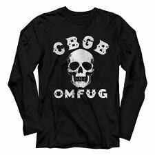 CBGB Skull Black Adult Long Sleeve T-Shirt
