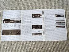 Studer Revox B261 radio tuner owners manual