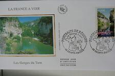 ENVELOPPE PREMIER JOUR SOIE 2004 LA FRANCE A VOIR LES GORGES DU TARN