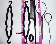 Black Hair Twist Styling Clip Stick Bun Maker Braid Tool Hair Accessories NEW
