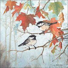Anita Phillips: Chickadees II IMMAGINE Telaio incastro TELA Uccelli Natura