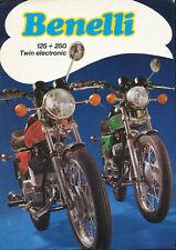 Benelli 125 250 Twin electronic Prospekt 1974 brochure Broschüre Motorrad Italy