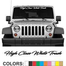 "High Class White Trash ""Script"" Windshield Decal Sticker Diesel Turbo  Car Truck"
