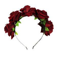 Niña corona floral rosa flor diadema tiara de la boda de pelo guirnaldaSE