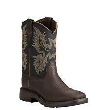 Ariat® Children's Workhog Wide Square Toe Brown & Black Boots 10021452