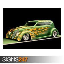 1939 Ford Sedan Hot Rod (AA958) Cartel de coche clásico-arte cartel impresión A1 A2 A3