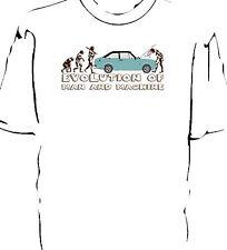"""« evolución del hombre """"de desglose Camiseta. Ford Escort Mk2"""