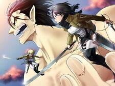 Shingeki No Kyojin Mikasa Armin Eren Titan Anime Manga Giant Wall Print POSTER