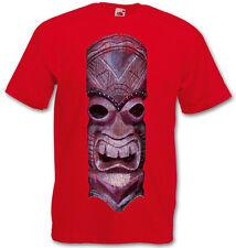 TIKI HEAD III T-SHIRT - Hawaii Tattoo Rockabilly Custom Psychobilly Skull Shirt