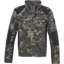 Casual Brandit Hommes Blake Jacket Vintage Manches Longues Chasse Manteau Motard