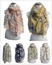 Women Ladies Classic Flower Print Pattern Shawl Scarf  Warp Stole