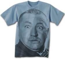 Three Stooges Big Curly BLUE Adult T-Shirt