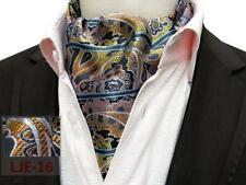 Cravat Ascot Tie Red Blue Green Purple Orange Yellow Black Paisley Silk Blend