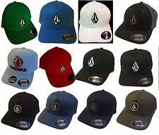 MENS VOLCOM ORIGINAL FLEXFIT HAT FITTED HAT CAP SIZE: S/M, L/XL, 6 Colors