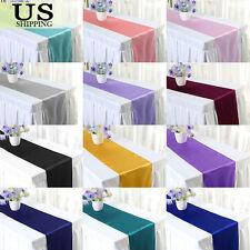 "12"" x 108""  Satin Table Runner Wedding Party Decoration Banquet Venue Décor"