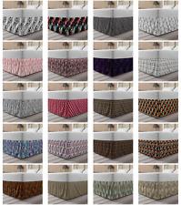 Ambesonne Abstarct Surreal Bedskirt Elastic Wrap Around Skirt Gathered Design