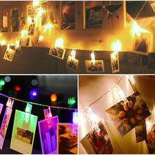 20PCS LED Photo Peg Clip Fairy String Light Wedding Hanging Picture Photo