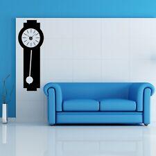 Sticker mural Horloge géante Comtoise suspendue avec mécanisme aiguilles
