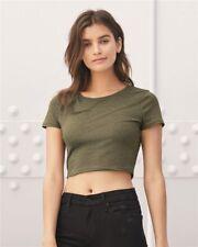 Bella + Canvas Women's Crop Top Tee Busty Form Fitting Plain Basic T-Shirt 6681