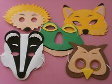 Woodland Animals Eye Masks* Fox*Hedgehog*Owl*Badger*Frog