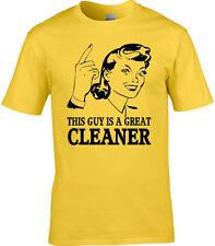 Limpiador Hombre Camiseta Idea Regalo ocupación Divertido Criada ventana