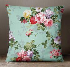 S4Sassy Light Blue Home Decor Pillow Case Square Cushion Cover Floral Print